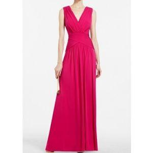 BCBG Maxazria full length pink dress sz XS